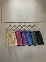 Casual pants Purple, blue, beige, rose powder, dark green, dark color S,M,L,XL Summer 2021 shorts Haren pants High waist commute routine 18-24 years old 31% (inclusive) - 50% (inclusive) other Korean version pocket cotton Asymmetry