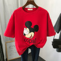 T-shirt Black, white, gray, red XL,L,M,XXL Summer 2020 Short sleeve Crew neck easy Medium length routine commute polyester fiber 86% (inclusive) -95% (inclusive) 18-24 years old Cartoon animation Yin Rulan printing