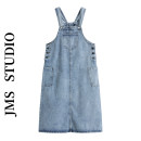 Dress Summer 2021 blue S,M,L,XL Mid length dress singleton  Sleeveless commute square neck High waist Solid color Socket A-line skirt other straps 18-24 years old Type A Korean version