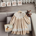 Dress Apricot female Other / other 90cm,100cm,110cm,120cm,130cm,140cm Other 100% spring and autumn Korean version Long sleeves Solid color other A-line skirt 18 months, 2 years old, 3 years old, 4 years old, 5 years old, 6 years old, 7 years old, 8 years old Chinese Mainland