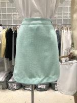 skirt Summer 2021 S,M,L,XL White, green Short skirt commute High waist A-line skirt Solid color Type A 25-29 years old Korean version