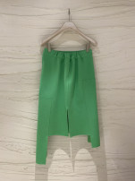 skirt Summer 2021 S,M,L,XL Green, black Middle-skirt commute High waist other Solid color Type A 30% and below other other Korean version