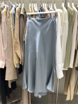 skirt Summer 2021 S,M,L,XL Pink, blue, black longuette commute High waist other Solid color 25-29 years old 30% and below other other Korean version