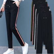 Casual pants M (recommended 80 Jin - 95 Jin), l (95 - 110 Jin recommended), XL (110 - 120 Jin), 2XL (120 - 130 Jin), 3XL (130 - 140 Jin), 4XL (140 - 155 Jin recommended) Spring 2020 trousers High waist Versatile Thin money 25-29 years old See description