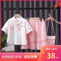 Vest female Peony pink, peony green, plum pink, plum green, long sleeve peony pink, long sleeve peony green, long sleeve plum pink, long sleeve plum green 110cm,120cm,130cm,140cm,150cm,160cm Other / other 3 months