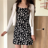 Fashion suit Summer 2020 Average size Suspender skirt, white cardigan 18-25 years old Other / other HZL700 30% and below