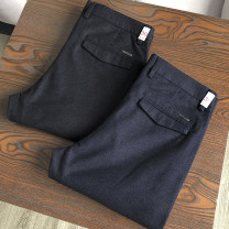 Casual pants Others Fashion City 28,29,30,31,32,33,34,35,36,38,40,42 routine trousers Other leisure Self cultivation Micro bomb autumn youth Business Casual 2020 middle-waisted Little feet Overalls Pocket decoration No iron treatment Solid color