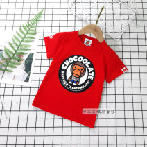 T-shirt Other / other male summer Short sleeve Crew neck solar system No model nothing cotton Cartoon animation Cotton 95% other 5% 12 months, 18 months, 2 years old, 3 years old, 4 years old, 5 years old, 6 years old, 7 years old, 8 years old, 9 years old