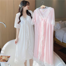 Outdoor casual suit Tagkita / she and others female 101-200 yuan 160 (m) 90-110 Jin, 165 (L) 110-130 Jin, 170 (XL) 130-150 Jin 7130 white (with bra), 7130 Pink (with bra) summer cotton