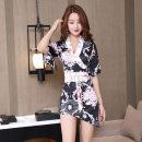 Dress Spring 2020 White, black S,M,L,XL,2XL Short skirt singleton  elbow sleeve commute V-neck middle-waisted Decor Socket Korean version 91% (inclusive) - 95% (inclusive) polyester fiber