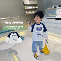 T-shirt white Udbaby / udbaby 80cm,90cm,100cm,110cm,120cm,130cm neutral spring and autumn Long sleeves Crew neck Korean version There are models in the real shooting nothing other letter L21021 other 12 months, 18 months, 2 years old, 3 years old, 4 years old, 5 years old, 6 years old Huzhou City