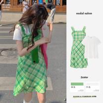 Fashion suit Summer 2021 S,M,L,XL Green, white 31% (inclusive) - 50% (inclusive)