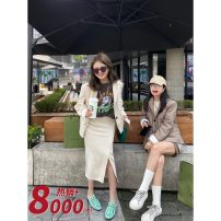 Fashion suit Spring 2021 Xs, m, s (Wenzi size) 18-25 years old 91% (inclusive) - 95% (inclusive) polyester fiber