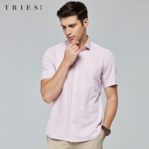 shirt other Tries / talent 38,39,40,41,42,43,44 Light green, light blue, light gray, light red routine Pointed collar (regular) Short sleeve Self cultivation Other leisure summer T10202E0721 youth Cotton 39.2% regenerated cellulose 32.3% polyester 28.5% Business Casual 2020 lattice Color woven fabric