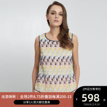 shirt WHITE MIX 2,4,6,8 Spring of 2018 cotton 71% (inclusive) - 80% (inclusive) Sleeveless commute Regular Crew neck Socket routine other 25-29 years old Self cultivation Ports Simplicity LV8B069CLC002