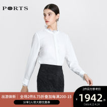 shirt CREAM 0,2,4,6,8,10 Winter of 2019 polyester fiber 30% and below Long sleeves Versatile Regular stand collar routine Solid color 30-34 years old Straight cylinder Ports ALL8B012CWB008