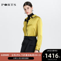 shirt 0,2,4,6,8,10 Spring 2020 polyester fiber 96% and above Long sleeves Versatile Regular Polo collar Single row multi button shirt sleeve Solid color 30-34 years old Ports