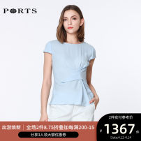 shirt SKYWAY 2,4,6,8,10,12 Spring of 2019 Viscose 96% and above Short sleeve commute Regular Crew neck routine Solid color 25-29 years old Self cultivation Ports Ol style LA8B111FFV001
