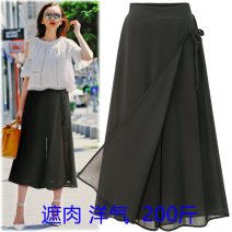 Casual pants black XL,2XL,3XL,4XL Summer 2020 Cropped Trousers Wide leg pants High waist street Thin money 25-29 years old w20-212g Other / other Europe and America