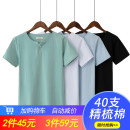 T-shirt Youth fashion thin M,L,XL,2XL,3XL Short sleeve Door collar Self cultivation daily summer Cotton 95% PVC 5% youth routine Basic public Sweat cloth 2019 Solid color Button decoration Cotton ammonia No iron treatment Designer brand