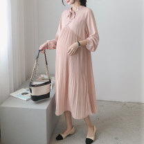 Dress Seaporey / cypress Ml average Korean version Long sleeves have more cash than can be accounted for autumn Solid color