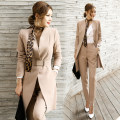 Professional pants suit Khaki suit + silk scarf, khaki suit, black suit, black suit + Silk Scarf S,M,L,XL Autumn 2016 Jacket, other styles Long sleeves trousers Other / other 25-35 years old