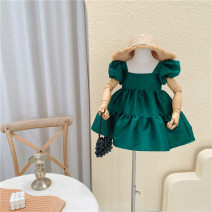 Dress green female Other / other 80cm,90cm,100cm,110cm,120cm,130cm Other 100% summer Korean version Long sleeves other other Class B 18 months, 2 years old, 3 years old, 4 years old, 5 years old, 6 years old, 7 years old, 8 years old Chinese Mainland