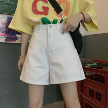 Jeans Summer 2021 White, pink, black S,M,L shorts High waist Wide legged trousers routine 18-24 years old other 31% (inclusive) - 50% (inclusive)