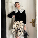 skirt Spring 2021 S,M,L lead a voluptuous life Short skirt commute High waist A-line skirt Solid color Type A 18-24 years old polyester fiber Splicing