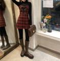 Dress Winter 2020 Black base, suspender skirt Average size, s, M