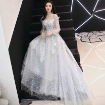 Dress / evening wear Wedding, adulthood, party, company annual meeting, routine, date S. M, l, XL, XXL, choose the size according to the bust and waist, make it free of charge Korean version longuette middle-waisted Spring 2021 Self cultivation Sling type zipper See description 18-25 years old ZX850