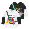 T-shirt White, black, dinosaur white on the back, dinosaur black on the back, shark white on the back, shark black on the back Top one kids male spring and autumn Long sleeves Crew neck Korean version No model nothing cotton Cartoon animation Cotton 95% polyester 5% CY2527 Class B other Dongguan City