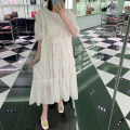 Dress Summer 2020 White (spot), white ~ pre-sale as soon as possible yo~ Average size Mid length dress singleton  elbow sleeve commute Crew neck Loose waist Solid color Socket Princess Dress other 25-29 years old Type A Zhang Jingzhi Korean version More than 95%