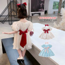 Dress female Geyoupailang 90cm 100cm 110cm 120cm 130cm 140cm Other 100% summer Korean version Short sleeve Solid color other A-line skirt Class B Summer 2021 18 months, 2 years old, 3 years old, 4 years old, 5 years old, 6 years old, 7 years old, 8 years old
