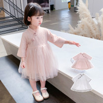 Dress White Pink Short Sleeve White Short Sleeve female Geyoupailang 90cm 100cm 110cm 120cm 130cm 140cm Other 100% summer Korean version Short sleeve other other Princess Dress GYXP2423-1 Class B Summer 2021