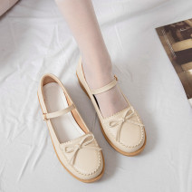 Low top shoes Other / other Round head PU Thick heel Low heel (1-3cm) Shallow mouth Superfine fiber Autumn 2020 Flat buckle solar system Adhesive shoes Youth (18-40 years old) Solid color rubber Single shoes Microfiber skin daily Face dressing