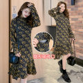 Dress Spring 2020 Picture color M,L,XL,2XL Mid length dress singleton  Long sleeves commute Crew neck High waist Decor Socket Irregular skirt routine Others Type A Retro 71% (inclusive) - 80% (inclusive) Chiffon polyester fiber