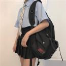 skirt Summer of 2018 S M L black Short skirt Versatile High waist Pleated skirt Type A 51% (inclusive) - 70% (inclusive)