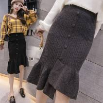 skirt Autumn 2020 S [recommended 80-90 kg], m [recommended 90-100 kg], l [recommended 100-110 kg], XL [recommended 110-120 kg], XXL [recommended 120-140 kg] Black, grey, brick red longuette commute High waist Ruffle Skirt 31% (inclusive) - 50% (inclusive) other other Asymmetry