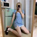 Dress Summer 2020 Dark black, soft girl blue S, M