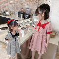 Dress Red, black female Other / other 90cm,100cm,110cm,120cm,130cm,140cm Other 100% summer Korean version Short sleeve lattice cotton A-line skirt Class B 7 years, 8 years, 12 months, 3 years, 6 years, 18 months, 2 years, 5 years, 4 years Chinese Mainland