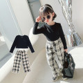 suit Other / other black 90cm, 100cm, 110cm, 120cm, 130cm, 140cm female spring and autumn Korean version Long sleeve + pants 2 pieces routine There are models in the real shooting Socket nothing lattice cotton children Expression of love MLS5117 Class B Cotton 90% other 10% Chinese Mainland