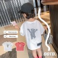 T-shirt White, pink Other / other 90cm,100cm,110cm,120cm,130cm,140cm neutral summer Short sleeve Crew neck leisure time There are models in the real shooting nothing cotton Bear Other 100% MLS5192 Class B