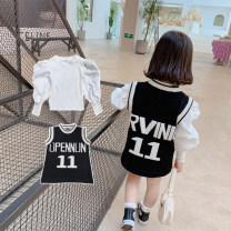 Sweater / sweater 90cm, 100cm, 110cm, 120cm, 130cm, 140cm cotton female Black, white Other / other Korean version There are models in the real shooting Socket routine Crew neck nothing Ordinary wool Solid color Cotton 90% viscose (viscose) 10% MLM4075 Class B Chinese Mainland