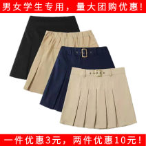 skirt 110cm,120cm,130cm,140cm,150cm,160cm,170cm,180cm Black, red, khaki, white, Navy, Navy metal deduction, khaki metal deduction, Navy trim, black trim, red and white check, red and black check, black and white check, Scottish skirt Other / other female Polyester 80% viscose 20% No season skirt