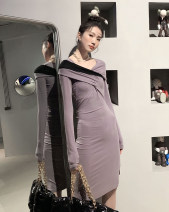 Dress Winter 2020 Color deviation S,M,L singleton  Long sleeves High waist 18-24 years old Other / other
