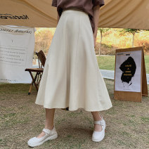 skirt Summer 2021 S,M,L,XL Black, apricot Mid length dress commute High waist A-line skirt Solid color Type A 25-29 years old 91% (inclusive) - 95% (inclusive) other polyester fiber Korean version 401g / m ^ 2 (inclusive) - 500g / m ^ 2 (inclusive)