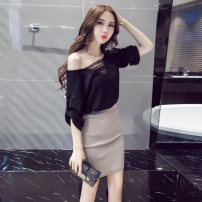 Fashion suit Autumn of 2019 S,M,L Black, rose Other / other