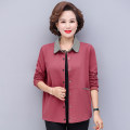 Middle aged and old women's wear Winter 2020 Green, pink, Navy, orange XL,XXL,XXXL,4XL,5XL fashion Jacket / jacket easy singleton  Solid color 40-49 years old Cardigan moderate Short (length 35-50cm) routine other Button Single breasted