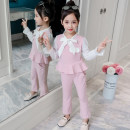 suit Dadatree / dada tree Pink, light green, xhm beauty suit white The recommended height is about 100cm for Size 110, 110cm for Size 120, 120cm for Size 130, 130cm for size 140, 140cm for size 150 and 150cm for size 160 female spring and autumn Korean version Long sleeve + pants 2 pieces routine